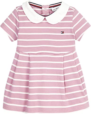 Tommy Hilfiger Baby Girl Rugby Stripe Dress S//S Blouse