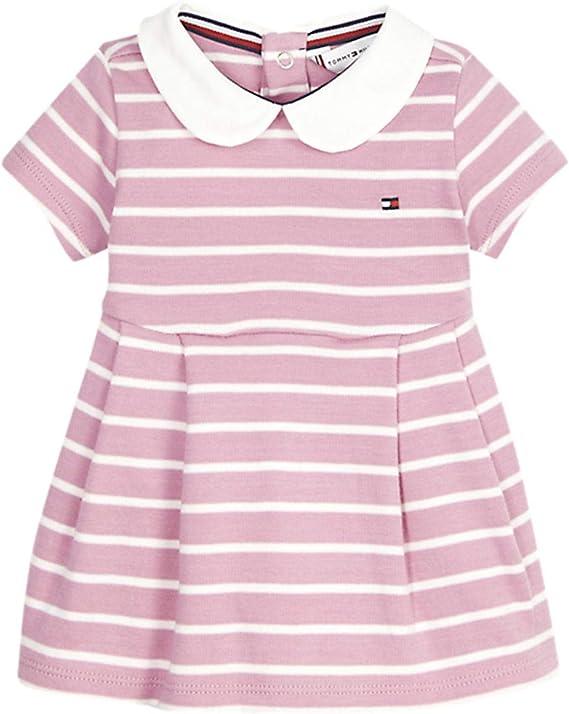 Tommy Hilfiger Baby Girl Rugby Stripe Dress S//S Blouse Mixte b/éb/é