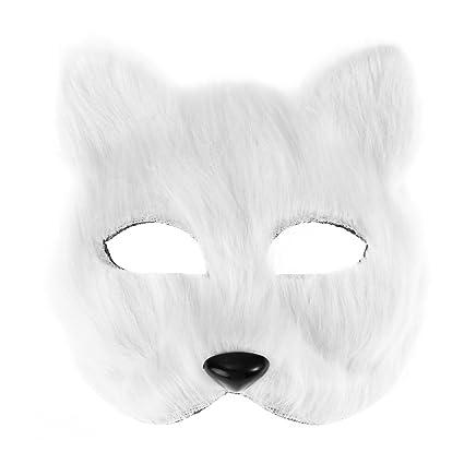 Amazon com: BESTOYARD Fancy Dress Fox Mask Half Face Animal