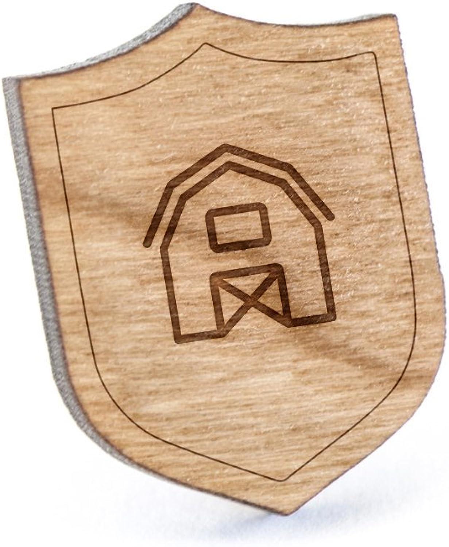 Wooden Pin Farmhouse Lapel Pin