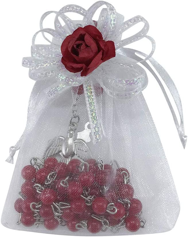 12 PERSONALIZED ROSARY PARTY FAVORS FIRST COMMUNION CONFIRMATION COMUNION QUINCE
