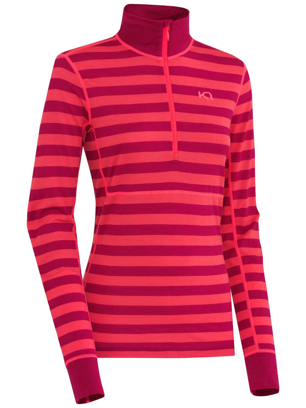 Kari Traa Ulla Half-Zip Top -Women's Ruby, XL