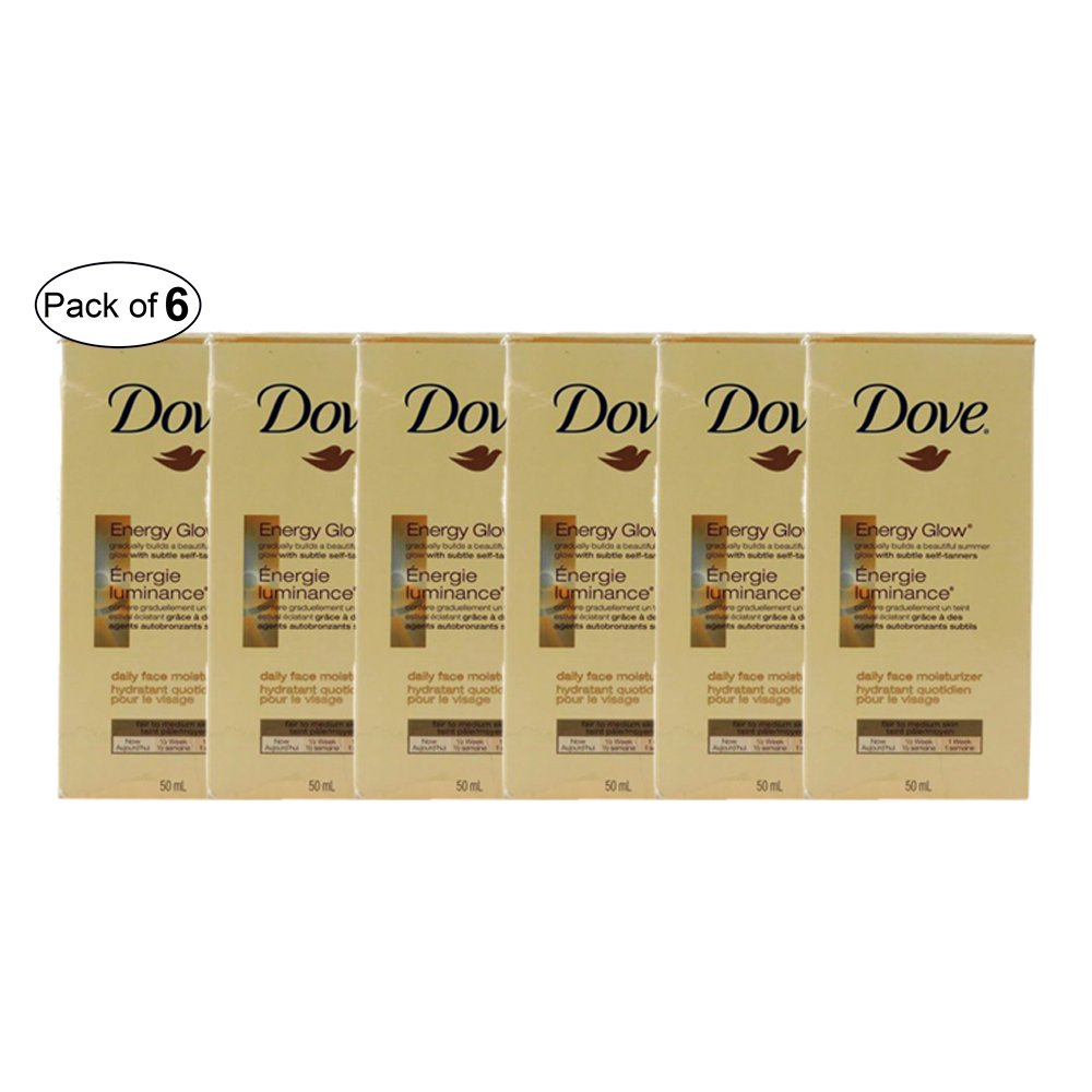Dove Energy Glow Daily Face Moisturizer - 50ml (Pack of 6)