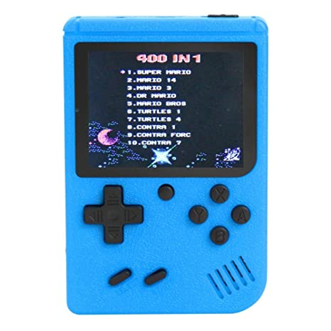 Housesczar 3 inch Handheld Retro FC Game Console Built-in 400 Games 8 Bit Game Player
