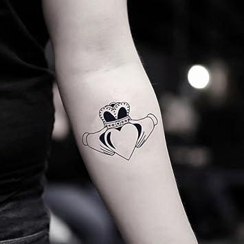 649d2b531 Amazon.com : Claddagh Temporary Fake Tattoo Sticker (Set of 2) -  www.ohmytat.com : Beauty