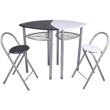 Promobo -Table Bar avec Deux Chaises Snack Idéal Cuisine ...