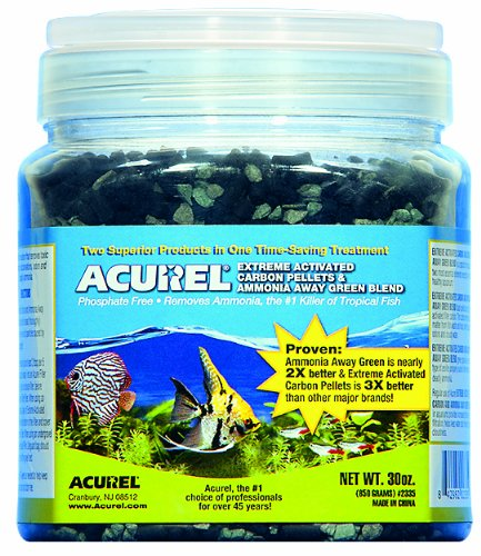 Acurel LLC Extreme Activated Carbon Pellets and Amoníaco Away Green Blend, Acuario y Accesorio para filtro de estanque, 30 onzas