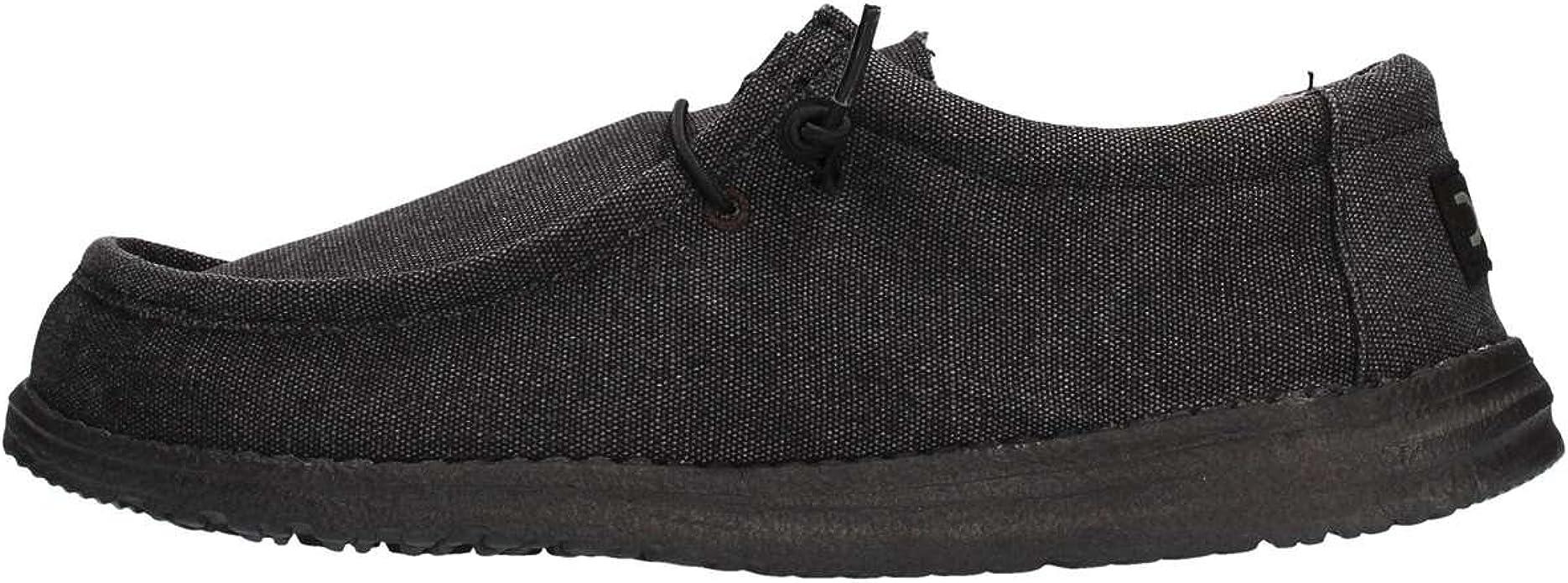 Wally Clásico Negro Azabache Dude Shoes Hombres UK12 / EU46