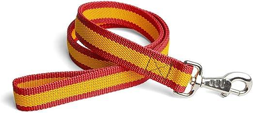 LGP - Correa de Paseo Bandera de España, para Perro de 1,05 Metro: Amazon.es: Productos para mascotas