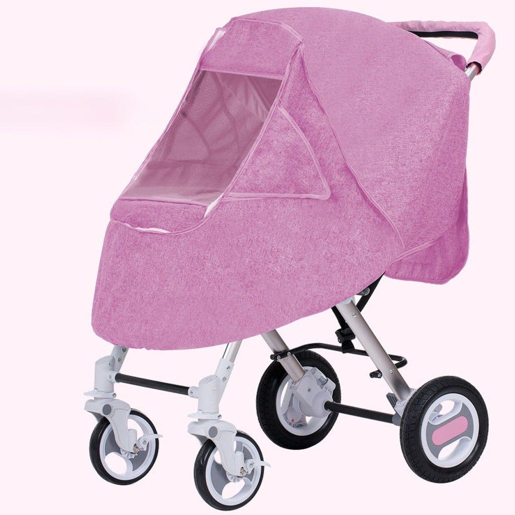 ベビーベビーカーユニバーサル多目的ベビーベビーカーウォームフロントシェルターアクセサリー(ブルー)(ピンク)(ブルゴーニュ) ( Color : Pink ) B07BT1RRVJ