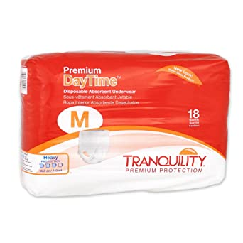 Tranquility Premium OverNight - Ropa interior absorbente desechable (DAU) (tamaño mediano – 18
