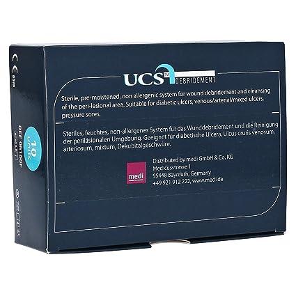 Toallitas estériles UCS para desbridar Caja 10 unidades