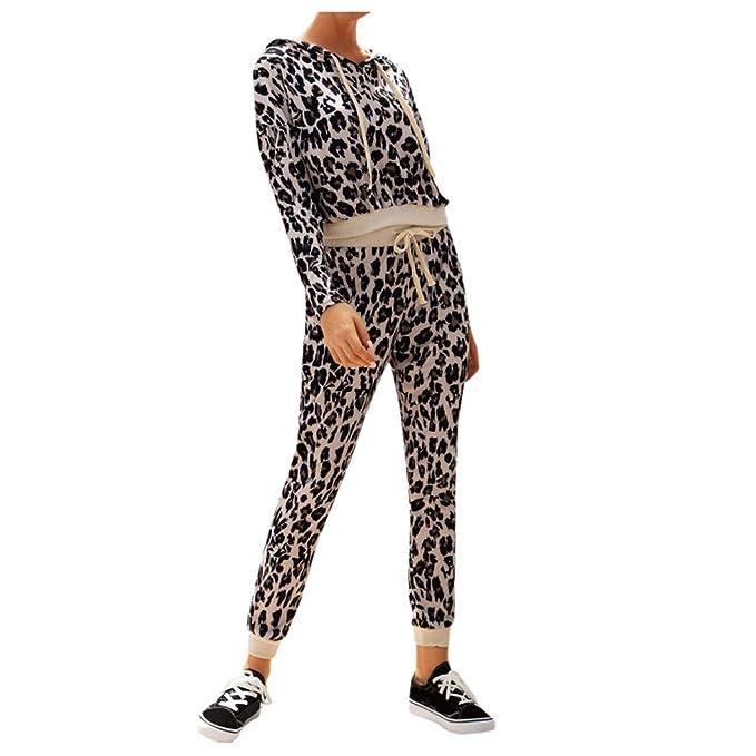 MXJEEIO Chándal de Mujer Conjunto de Pantalones con ...