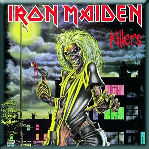 Iron Maiden Killers new Official 76mm x 76mm Fridge Magnet (Iron Maiden Killers Poster compare prices)