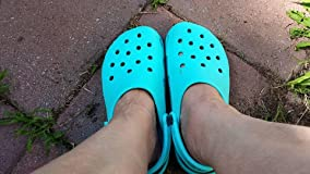 I have avoided crocs because they are big clown shoes in appearance and I didn't want look like a.