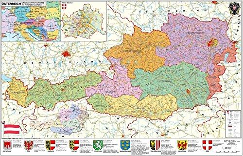 Österreich politisch: Wandkarte mit Metallbeleistung Landkarte – 1. September 2008 Heinrich Stiefel Stiefel Eurocart 3938842598 Karten / Stadtpläne / Europa