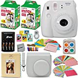 Photo : Fujifilm Instax Mini 9 Instant Camera WHITE + Fuji INSTAX Film (40 Sheets) + Accessories Kit / Bundle + Custom Case + 4 AA Rechargeable Batteries & Charger + Assorted Frames + Photo Album + MORE