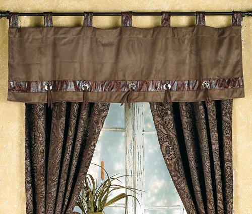 Black Forest Decor Western Paisley Beaumont Southwestern Valance - Rustic Window Treatment