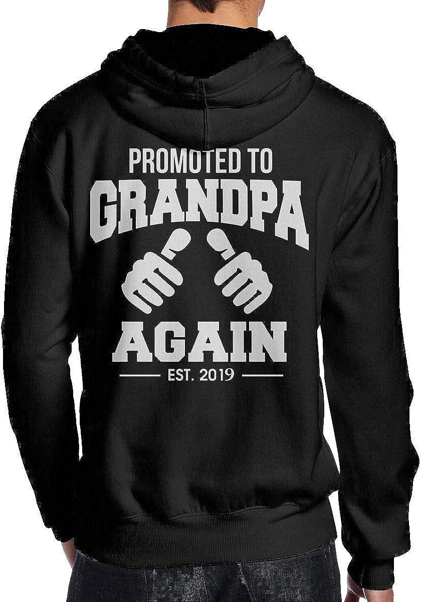 Promoted to Grandpa 2019 Mens Hoodie Hooded Sweatshirt