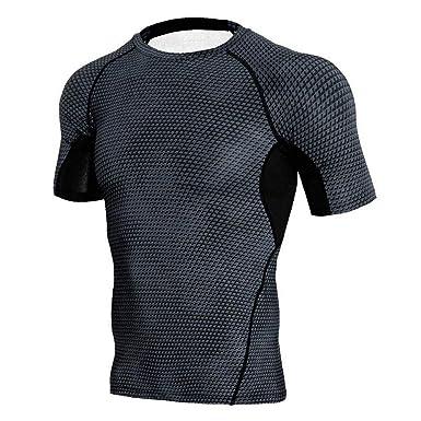 197538cf3c1 Men's Compression Shirts,Sunyastor Fitness Sports Shirt Long-Sleeve T-Shirts  Workout Tee