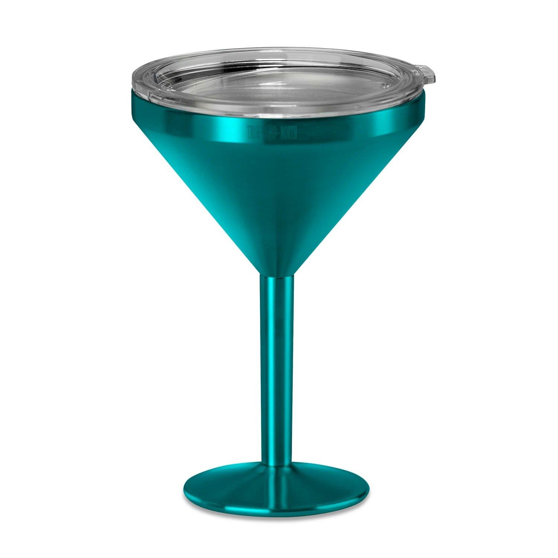 True North Insulated Martini Glass (Jewel Teal)