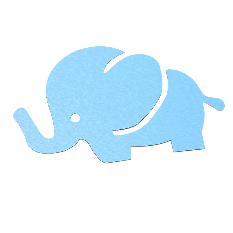 silver R DIY Elephant Mirror Wall Sticker Decal Removable Art Nursery Kid Baby Room Decor TOOGOO