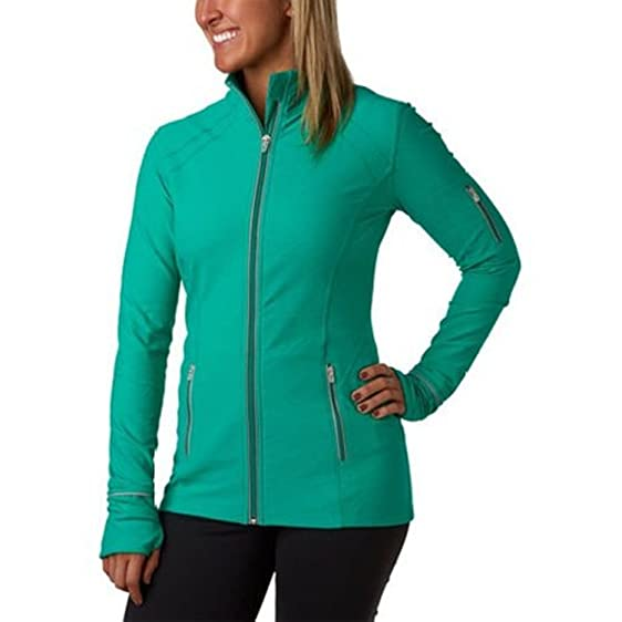 kirkland Signature Ladies' Full Zip Active Yoga Jacket-Green at ...