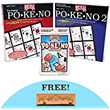 Pokeno Party Pack: Original Pokeno, Pokeno 2, and Lo-Vision Pokeno Card Games with Free Brybelly Last Chip Standing Dice Game