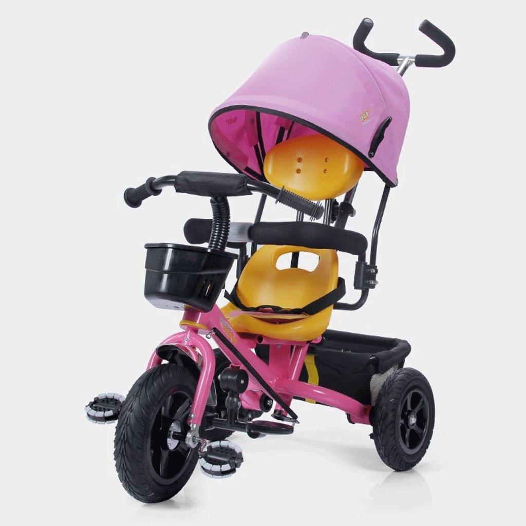 子供用三輪車1-5赤ちゃん用自転車ベビーカー子供用自転車子供用車、青、赤、ピンク、85 * 45 * 100cm ( Color : Pink ) B07C6Y5T3S
