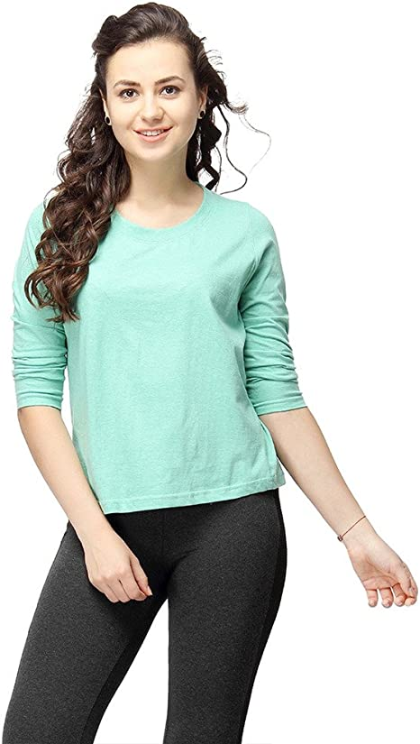 Campus Sutra Women's Cotton T-Shirt Women's Tops at amazon