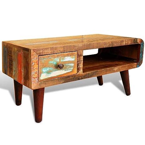 Amazon.com: vidaXL mesa de centro antiguo rústico Recuperado ...