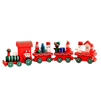 Eisenbahn Weihnachtsdeko.Premewish Holz Zug Eisenbahn Weihnachtsdeko Tisch Dekoration Fürs