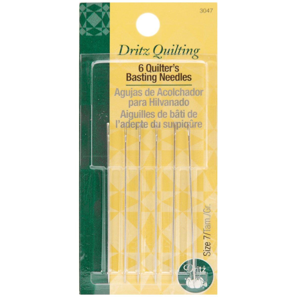 Dritz Quilter 's Agujas de mano de tamaño 7, 6Count Prym Consumer USA 3047
