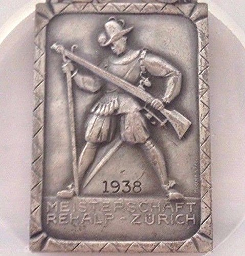 1938 CH Swiss 1938 Silver Shooting Medal Zurich Rehalp R- coin Good