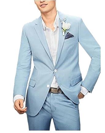 Botong Traje - para hombre Azul azul claro: Amazon.es: Ropa ...