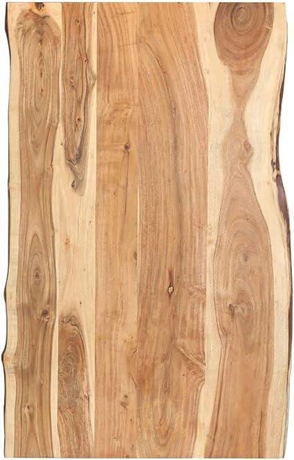 vidaxl bois d acacia massif dessus de table plateau de table de salle a manger tablette de table a diner dessus de table de repas 100x60x3 8 cm