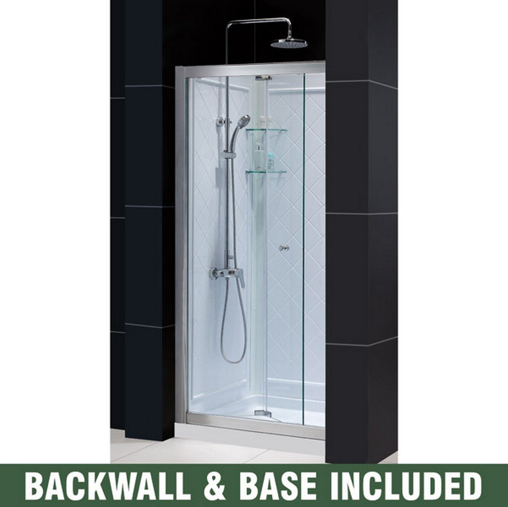 DreamLine Butterfly 32 in. D x 32 in. W Sliding Bi-Fold Shower Door ...