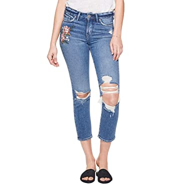 1de53e82 Silver Jeans Co. Women's Mazy Straight-Fit High-Rise Slim Crop Jeans,