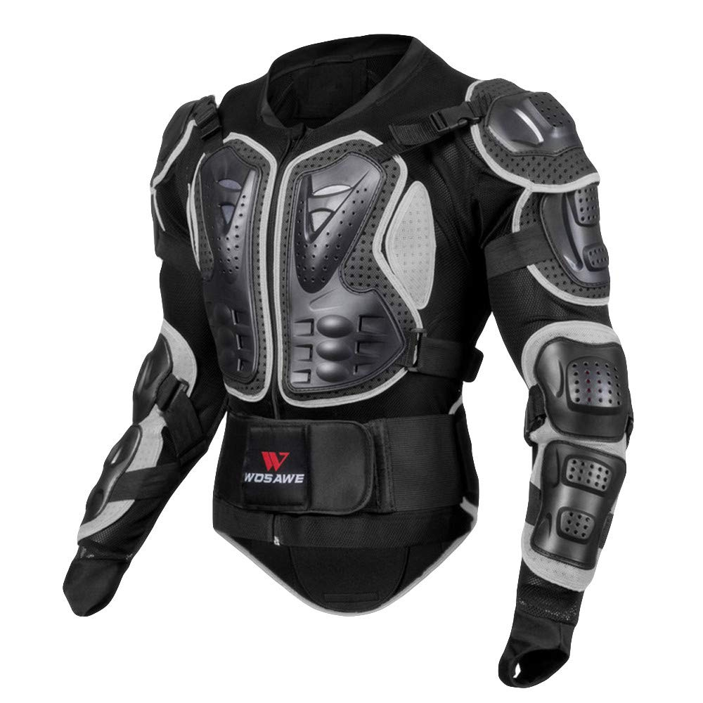 XiongBuy Motorcycle Full Body Armor Jacket Motocross Racing Spine Chest Coat