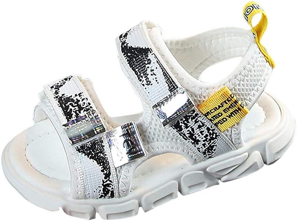 YUAN - Zapatos para niños y bebés Graffiti Beach Run Sport - Sandalias casuales - Sandalias deportivas para hombre y mujer blanco 26: Amazon.es: Ropa y accesorios