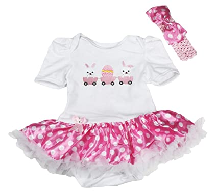 Petitebella Easter Rabbit White Romper Gold Scales Mermaid Baby Skirt Nb-12m