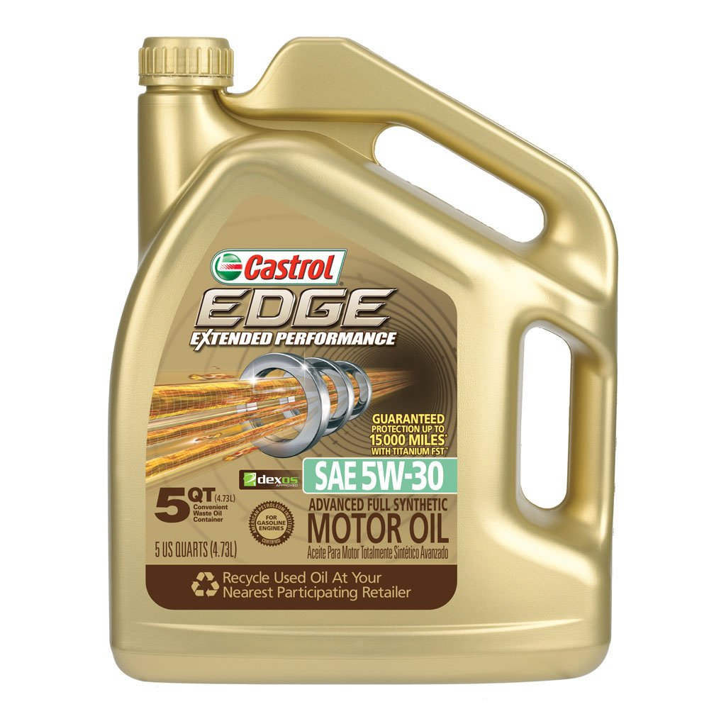 Castrol 03087 edge extended performance 5w 30 synthetic for 5 30 motor oil