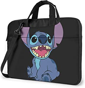 15.6 Inch Laptop Bag Lilo Stitch Laptop Briefcase Shoulder Messenger Bag Case Sleeve