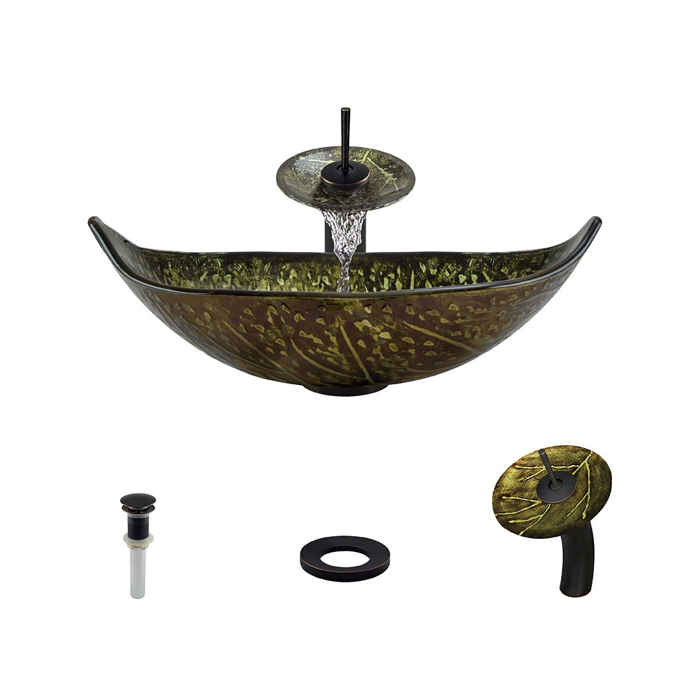 643 Antique Bronze Waterfall Faucet Bathroom Ensemble by MR Direct