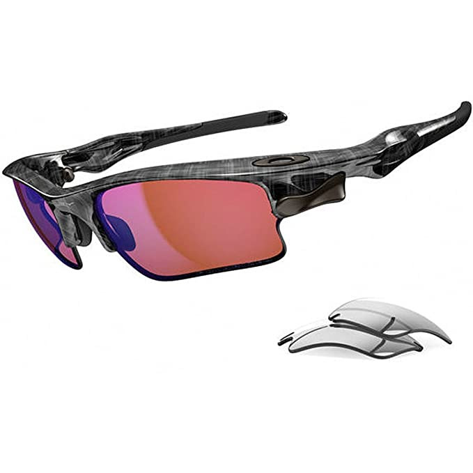 Oakley Negro a cuadros G30 Iridium polarizadas y pizarra Iridium Fast Jacket XL Gafas de sol