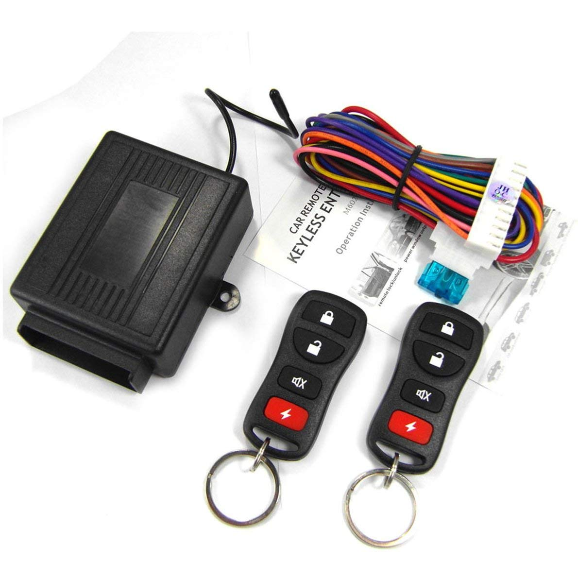 M602-8170 Remote Control Central Locking Kit for Nissan Car Door Lock Keyless Entry System with Trunk Release Button