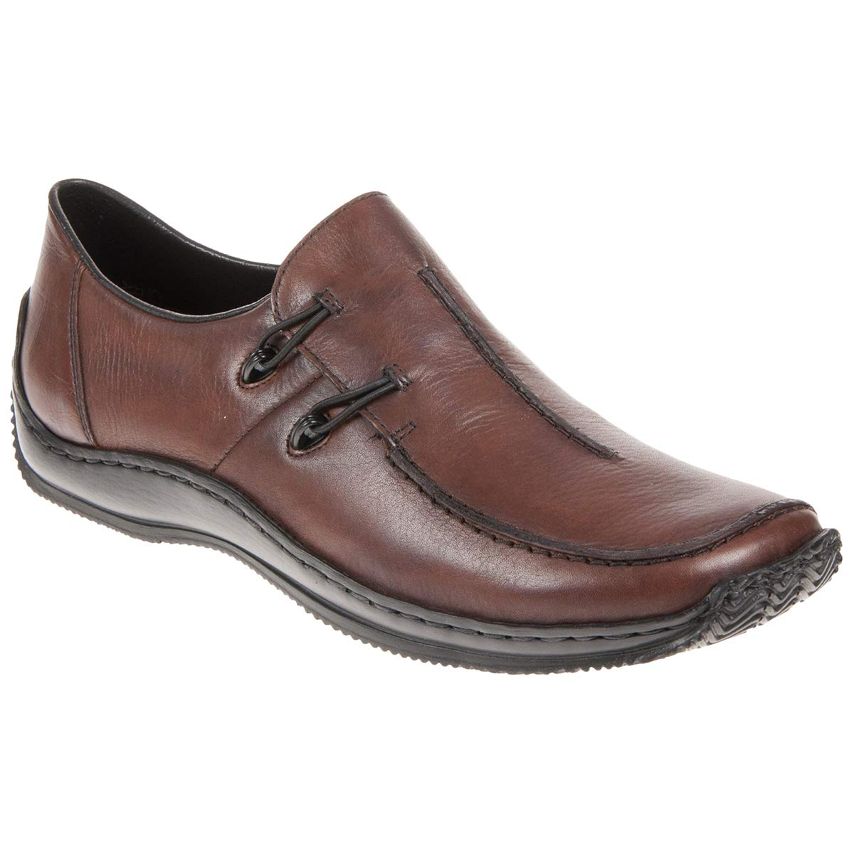 Rieker Womens L1751 25 Leather Brown Shoes 9.5 US