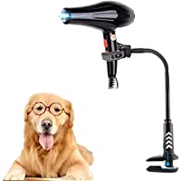 AACXRCR Pet Hair Dryer Holder,Adjustable Pet Hair Dryer Stand Dog Cat Grooming Table Hands-Free Dryer Blower Holder 360…