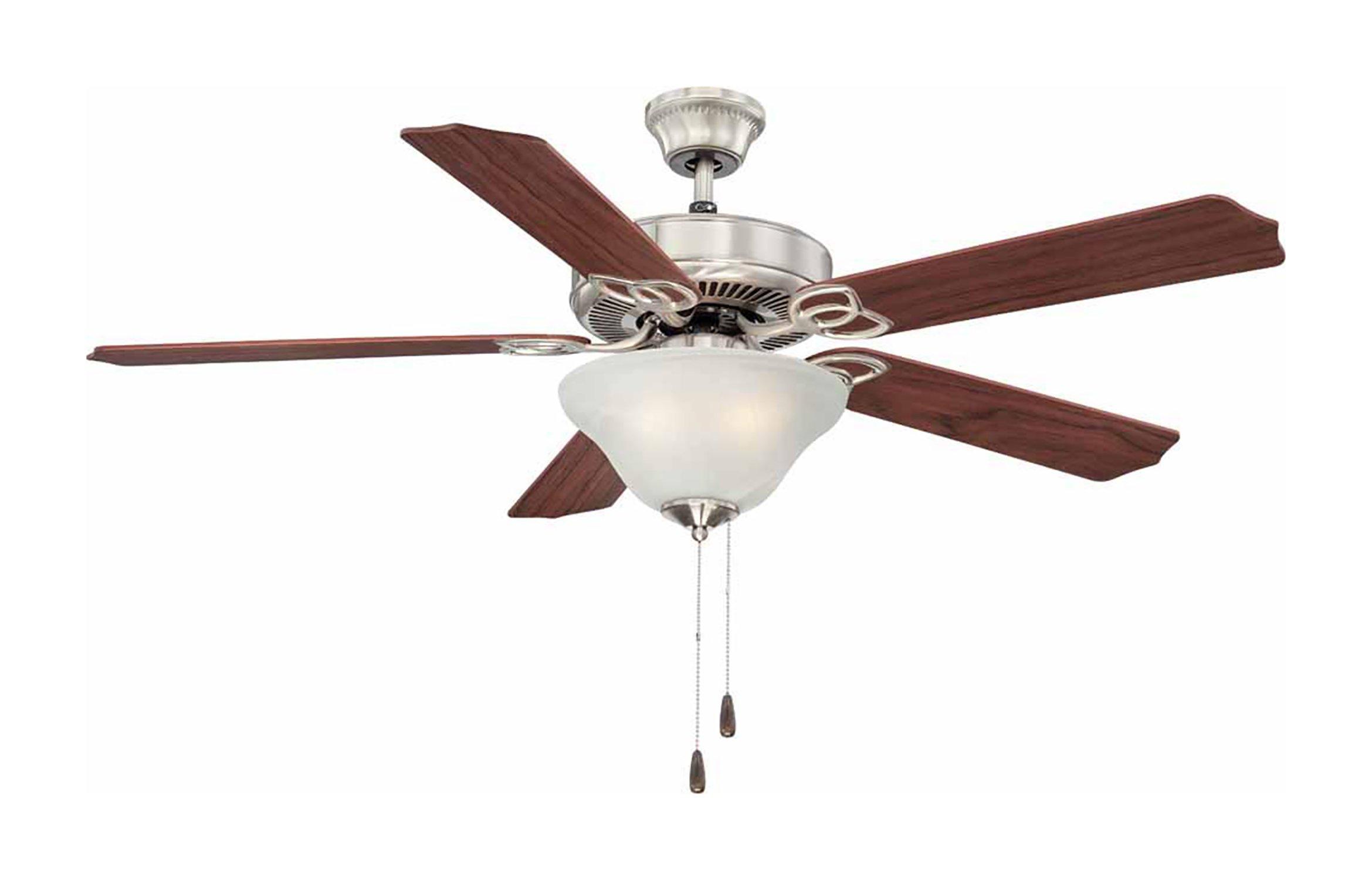 Volume Lighting V6123-33 3-Light Brushed Nickel Ceiling Fan