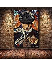 British TV Drama Peaky Crime Gangster Gunfight Blinders Handsome Shelby Murphy Muurkunst Poster Canvas Schilderij Jongen Fans Slaapkamer Studio Kantoor Huisdecoratie Muurfoto